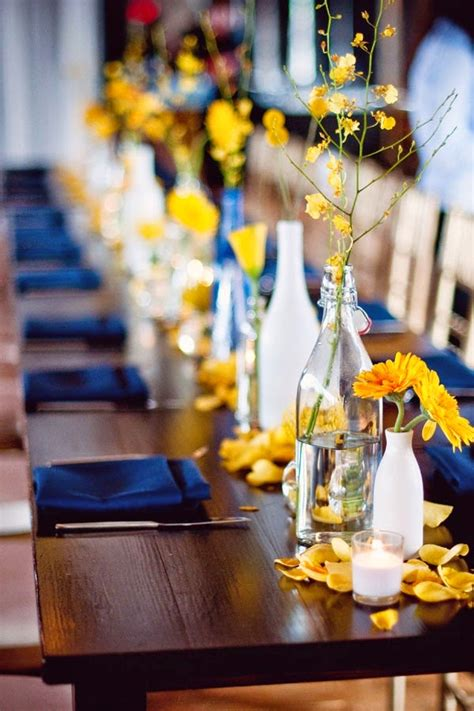 the confetti yellow and blue wedding ideas from the real flower petal confetti company