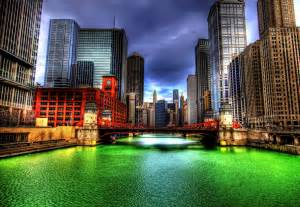 impressive    chicago river  stpatricks day