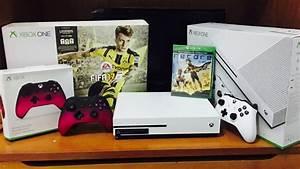 Unboxing Xbox One S 500GB Bundle FIFA 17 YouTube