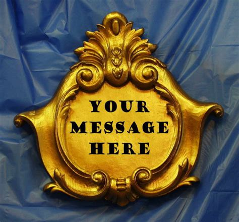 decorative sign plaque blank baroque antique gold ebay