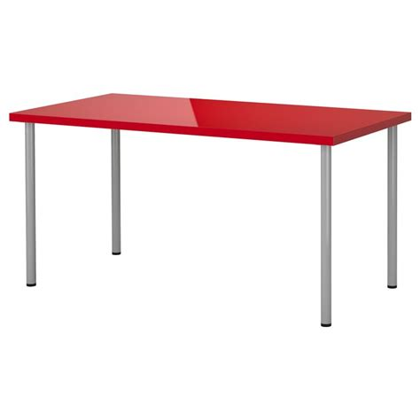 table de bureau ikea linnmon adils table high gloss silver color ikea