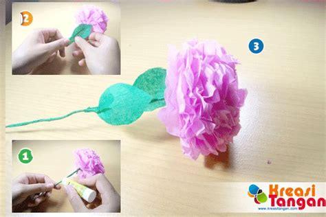 tutorial membuat kerajinan tangan kertas krep