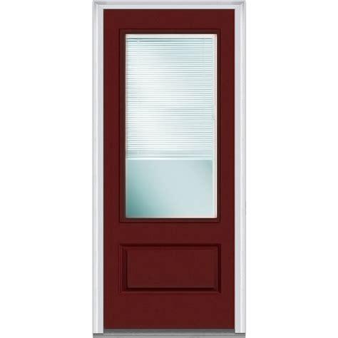 exterior door with blinds doorbuild mini blinds collection fiberglass