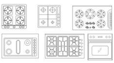 piano cottura dwg cucine 2d disegni di cucine in dwg 1