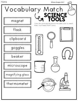science tools vocabulary activities free sler weather