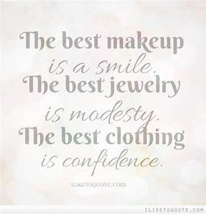 The best makeup... Lipstick And Smile Quotes
