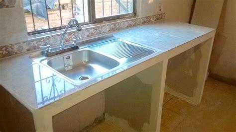 Barra de cocina tarja y azulejo Cte María Olivas