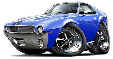 1968 69 Amc Amx Car Art Cartoon Tshirt