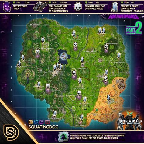 fortnitemares part  challenges cheat sheet sorrowsnow