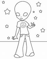 Alien Coloring Pages Printable Aliens Story Toy Getdrawings Template Results sketch template