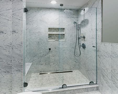 headerless sliding door new york custom shower doors