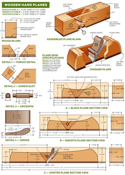 wooden hand plane plans woodworking projects plans