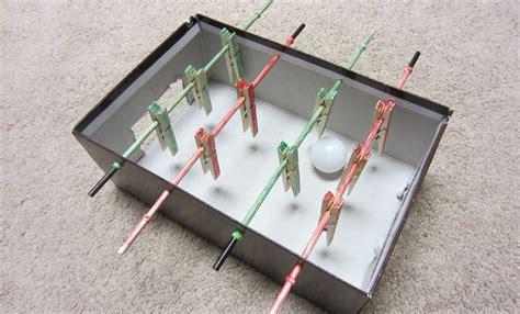 make cardboard foosball table how to make a mini foosball table table football soccer