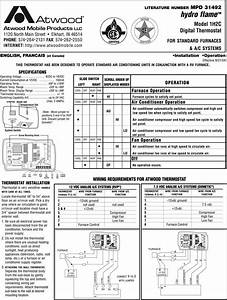 Atwood Mobile Products Hydro Flame 1h2c Users Manual Mpd31492