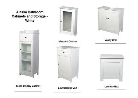 alaska white bathroom range vanity unit mirrored