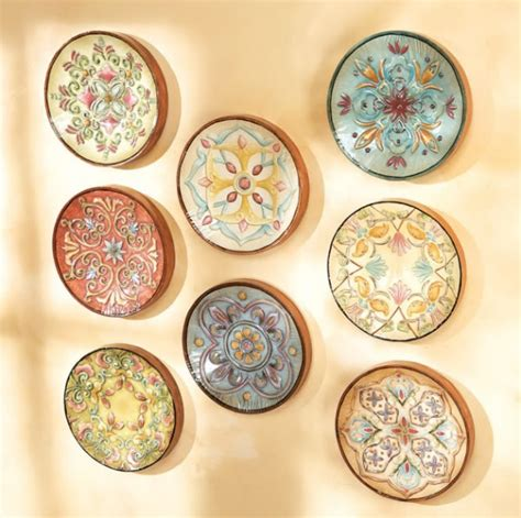 Tuscan Decorative Wall Plates by Tuscan Plates Collection Decor