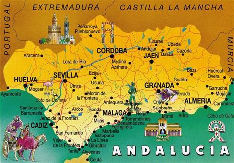 spain andalusia map exchange moors postcard empire moorish history maps andalucia