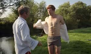 WATCH: James Norton slips and falls into lake in ...