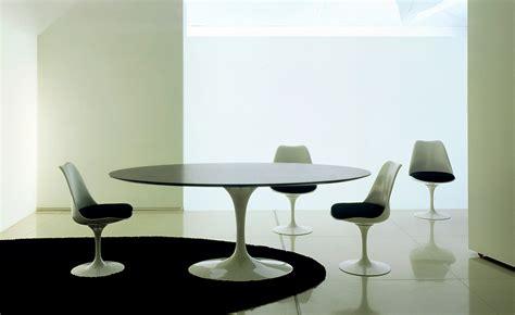 Saarinen Dining Table Black Granite   hivemodern.com