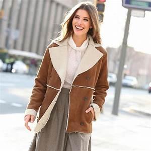 Fausse Peau De Mouton : manteau en peau lain e synth tique 3suisses mode conseils mode ~ Teatrodelosmanantiales.com Idées de Décoration