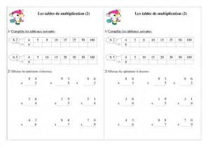 exercice table de multiplication ce1 table de lit a roulettes