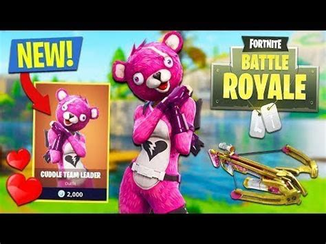 fortnite  cuddle team leader outfit youtube