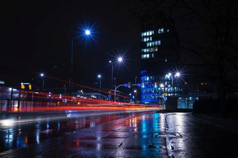 wallpaper  night city city lights road