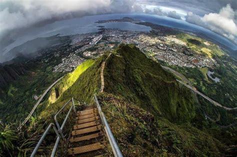 Haiku Stairs La Stairway To Heaven Proibita Ad Oahu Nelle
