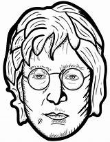 Lennon Personaggi Famosi Storici Openclipart Stilizzati Ritratti Onlinecoloringpages sketch template