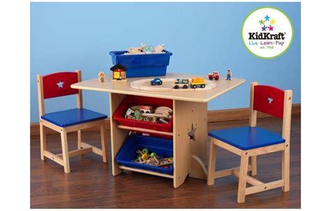 table et chaise pour enfants table et 2 chaises pour enfants en bois avec rangements