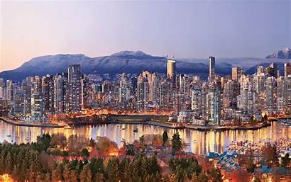 Vancouver 4k Canada Cityscape Wallpapers Skyscrapers Winter