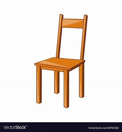 Chair Cartoon Wooden Vector Icon Royalty Vectorstock