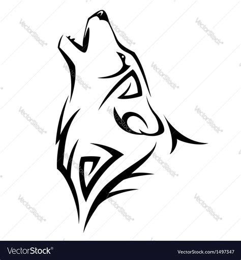 tribal wolf royalty  vector image vectorstock