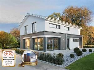 Fertighaus Anbau An Massivhaus : einfamilienhaus modern mit satteldach fertighaus massiv bauen ~ Watch28wear.com Haus und Dekorationen