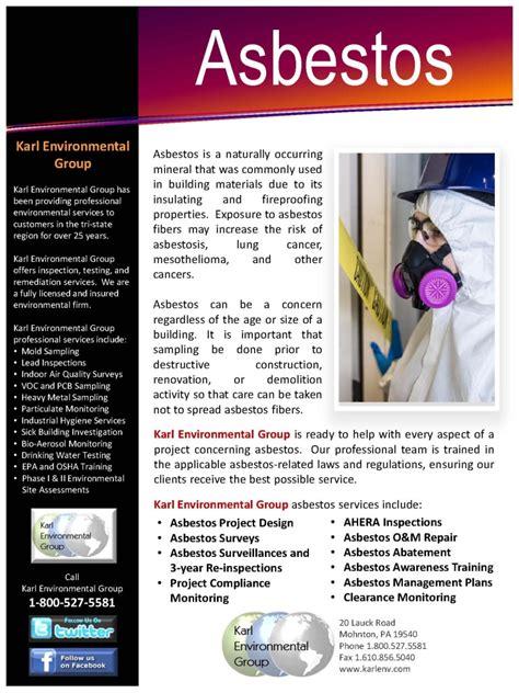asbestos flyer karl environmental group greater