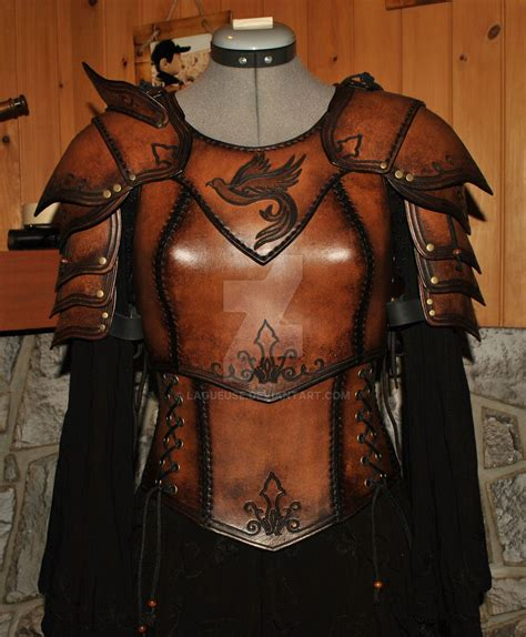 women leather armor  lagueusedeviantartcom