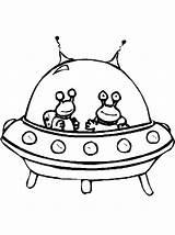 Alien Spaceship Coloring Extraterrestre Twin Drawing Coloriage Colorare Netart Drawings Dessin Disegni Gratis Spaziali Navicelle Astronavi Space Aliens Ausmalbilder Vaisseau sketch template