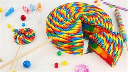 Lollipop Desktop Wallpapers Cake Rainbow Inside Surprise