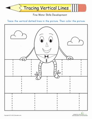 tracing vertical lines worksheet education com