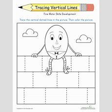 Prewriting Skills Tracing Lines  Lesson Plan Educationcom