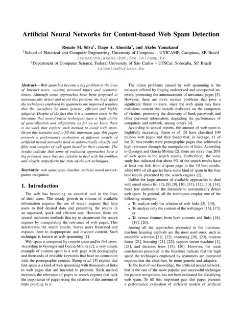 (PDF) Artificial Neural Networks for Content-based Web