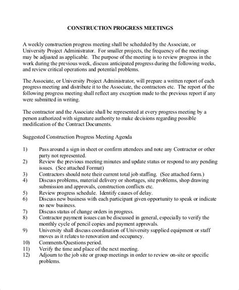 construction minutes templates word