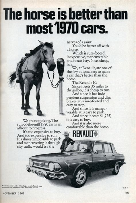 horse better than cars most 1970 1969 nov modernmechanix