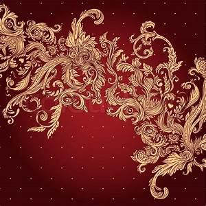 Vintage background ornate baroque pattern, vector