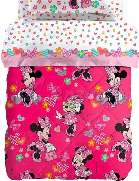 Copriletto Minnie by Trapunta Invernale Disney Una Piazza E Mezza Minnie Happy