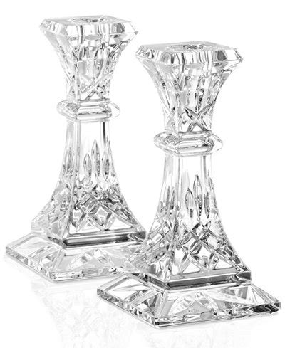 waterford gifts lismore candle holders  set