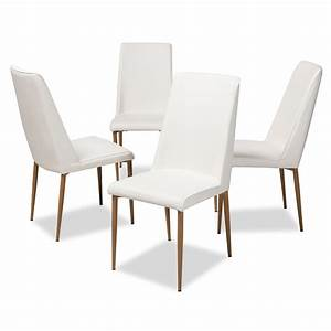Set, Of, 4, Baxton, Studio, Chandelle, Modern, And, Contemporary, Faux, Leather, Upholstered, Dining, Chairs