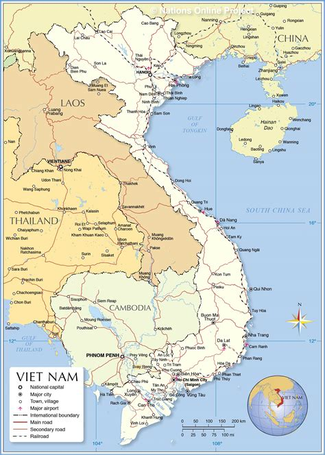 political map  vietnam nations  project