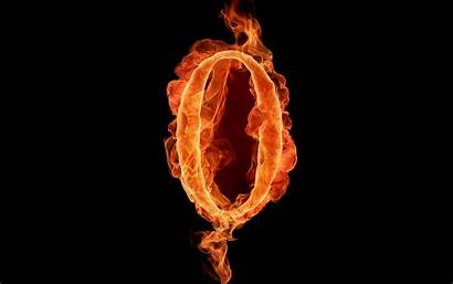Numbers Fiery Letters Flame Fire Realistic Number