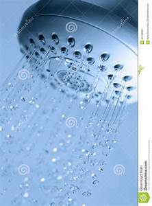 Shower With Running Water Stock Image Image Of Hygiene